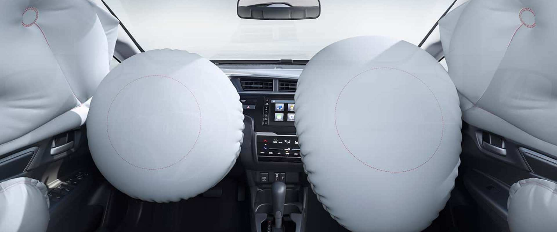 6 Airbags: frontais, laterais e de cortina