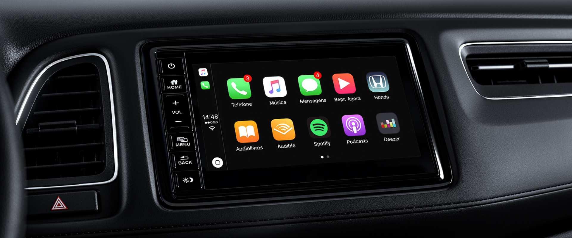 Interface intuitiva Apple CarPlay®